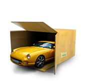 car loading and shipping container